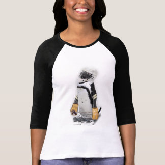 Kleiner Pinguin-tragender Hockey-Gang T-Shirt