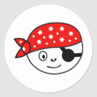 Kleiner Pirat Runder Aufkleber