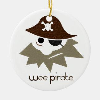 Kleiner Pirat Rundes Keramik Ornament
