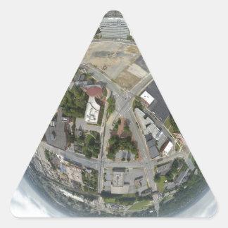 Kleiner Planet Greensboros Dreieckiger Aufkleber