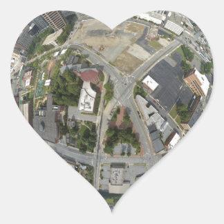 Kleiner Planet Greensboros Herz-Aufkleber