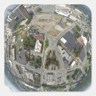 Kleiner Planet Greensboros Quadratischer Aufkleber