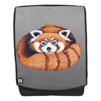 Kleiner roter Panda auf Grau Rucksack