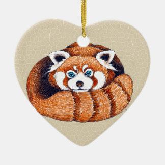 Kleiner roter Panda betreffen Tan Keramik Ornament