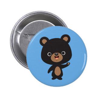 Kleiner schwarzer Bär Runder Button 5,7 Cm