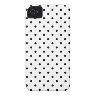 Kleiner schwarzer Tupfenweißhintergrund iPhone 4 Case-Mate Hüllen