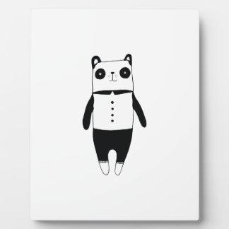 Kleiner Schwarzweiss-Panda Fotoplatte