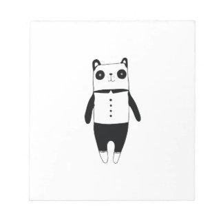 Kleiner Schwarzweiss-Panda Notizblock