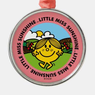Kleiner Sonnenschein-Kreis Fräulein-Sunshine   Silbernes Ornament