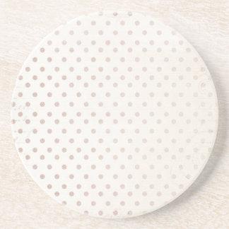 Kleiner Taupe-Punkt-Druck-klassische einfache Sandstein Untersetzer