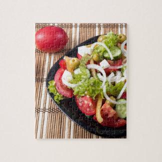 Kleiner Teil Gemüsesalat der Tomate Puzzle