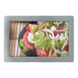 Kleiner Teil Gemüsesalat der Tomate Rechteckige Gürtelschnalle