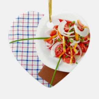 kleiner Teil vegetarischer Salat Keramik Ornament