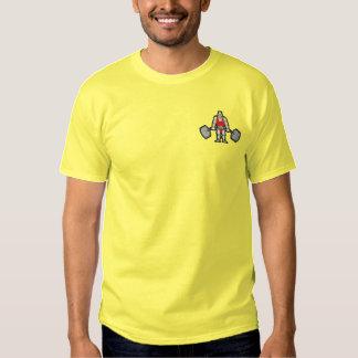Kleiner Weightlifter Besticktes T-Shirt