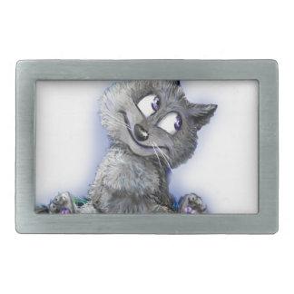 Kleiner Wolf Rechteckige Gürtelschnallen