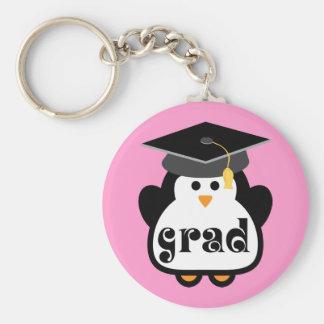 Kleines Absolventpenguin-Abschluss-Geschenk Schlüsselanhänger