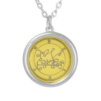 Kleines Badet Halsband das Silber Beleth Goétia_. Versilberte Kette