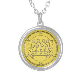 Kleines Badet Halsband das Silber Paimon Goétia_. Versilberte Kette