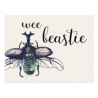 Kleines Beastie • Insekten-Aquarell-Skizzeentwurf Postkarte