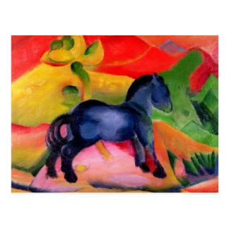 Kleines blaues Horse 1912 Postkarten