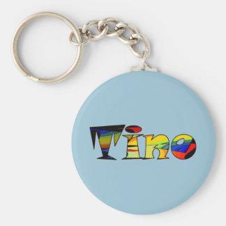 Kleines blaues keychain für Tino Standard Runder Schlüsselanhänger