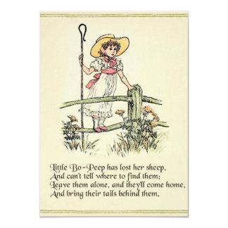 Kleines BO lugen Vintager Kinderzimmer-Reim 11,4 X 15,9 Cm Einladungskarte