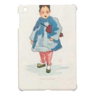 Kleines chinesisches Mädchen, das Regenschirm hält iPad Mini Hülle