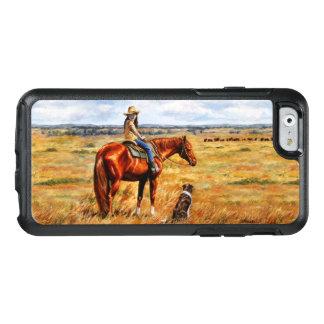 Kleines Cowgirl auf Vieh-Pferd OtterBox iPhone 6/6s Hülle