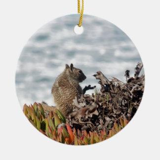 Kleines Eichhörnchen Rundes Keramik Ornament