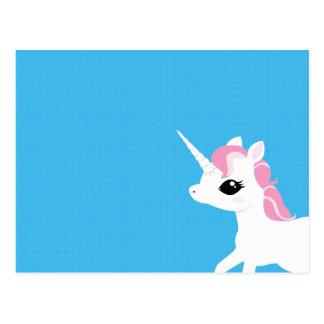 Kleines Einhorn mit rosa Mähnenpostkarte Postkarte
