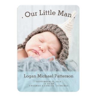 Kleines Foto-moderne Geburts-Mitteilung des 12,7 X 17,8 Cm Einladungskarte