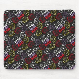 Kleines Fräulein Bad | schwarzes, rotes u. gelbes Mousepads