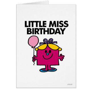 Kleines Fräulein Birthday With Pink Balloon Karte