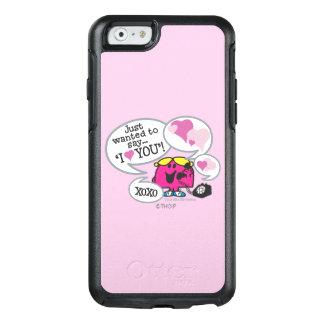 Kleines Fräulein Chatterbox Says I Love Sie OtterBox iPhone 6/6s Hülle