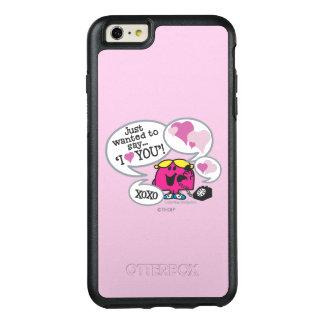 Kleines Fräulein Chatterbox Says I Love Sie OtterBox iPhone 6/6s Plus Hülle