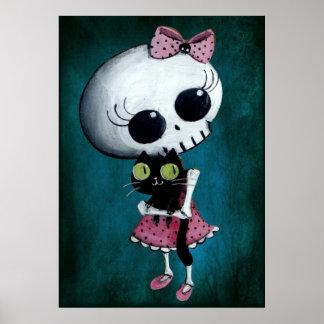 Kleines Fräulein Death - Halloween-Schönheit Poster