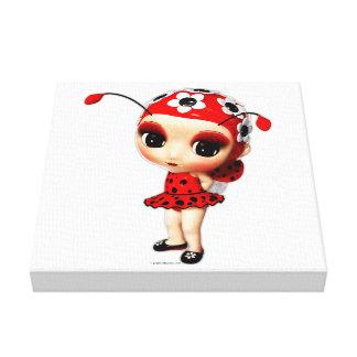 Kleines Fräulein Ladybug Leinwanddruck