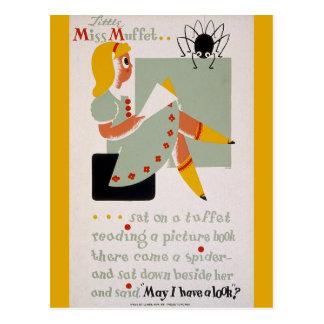 Kleines Fräulein Muffet Postkarte