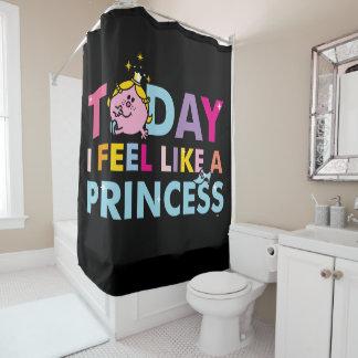 Kleines Fräulein Prinzessin  , das ich wie eine Duschvorhang