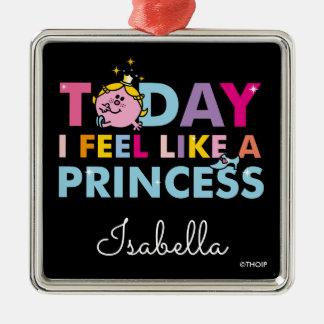 Kleines Fräulein Prinzessin  , das ich wie eine Silbernes Ornament