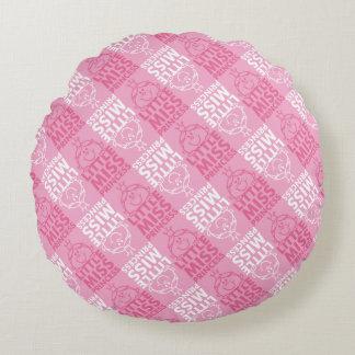 Kleines Fräulein Prinzessin | hübsch im rosa Rundes Kissen