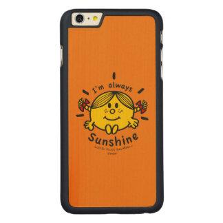 Kleines Fräulein Sunshine | bin ich immer Carved® Maple iPhone 6 Plus Hülle