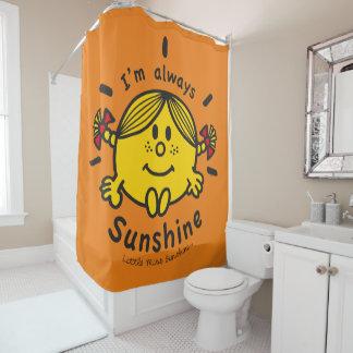 Kleines Fräulein Sunshine   bin ich immer Duschvorhang