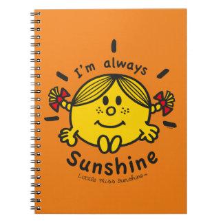 Kleines Fräulein Sunshine | bin ich immer Notizblock