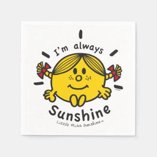 Kleines Fräulein Sunshine | bin ich immer Serviette