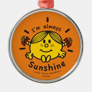 Kleines Fräulein Sunshine   bin ich immer Silbernes Ornament