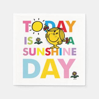 Kleines Fräulein Sunshine | ist heute ein Papierserviette