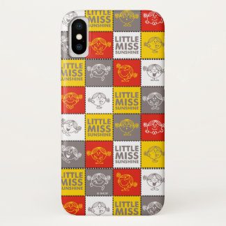 Kleines Fräulein Sunshine | rotes u. gelbes Muster iPhone X Hülle