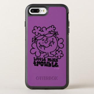 Kleines Fräulein Trouble | schwarz u. Weiß OtterBox Symmetry iPhone 8 Plus/7 Plus Hülle