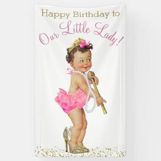 Kleines Geburtstags-Party Damen-High Heels Pearls Banner